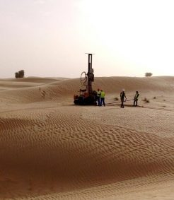 Tek Solar piling and drilling