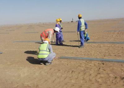 TekSolar_Ibri Solar Plant_Piling Preparation